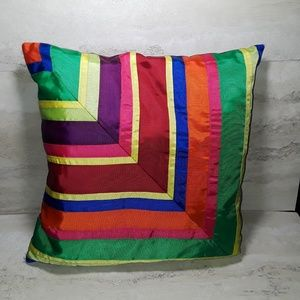 Tommy Hilfiger multi colored ribbon pillow 15x15